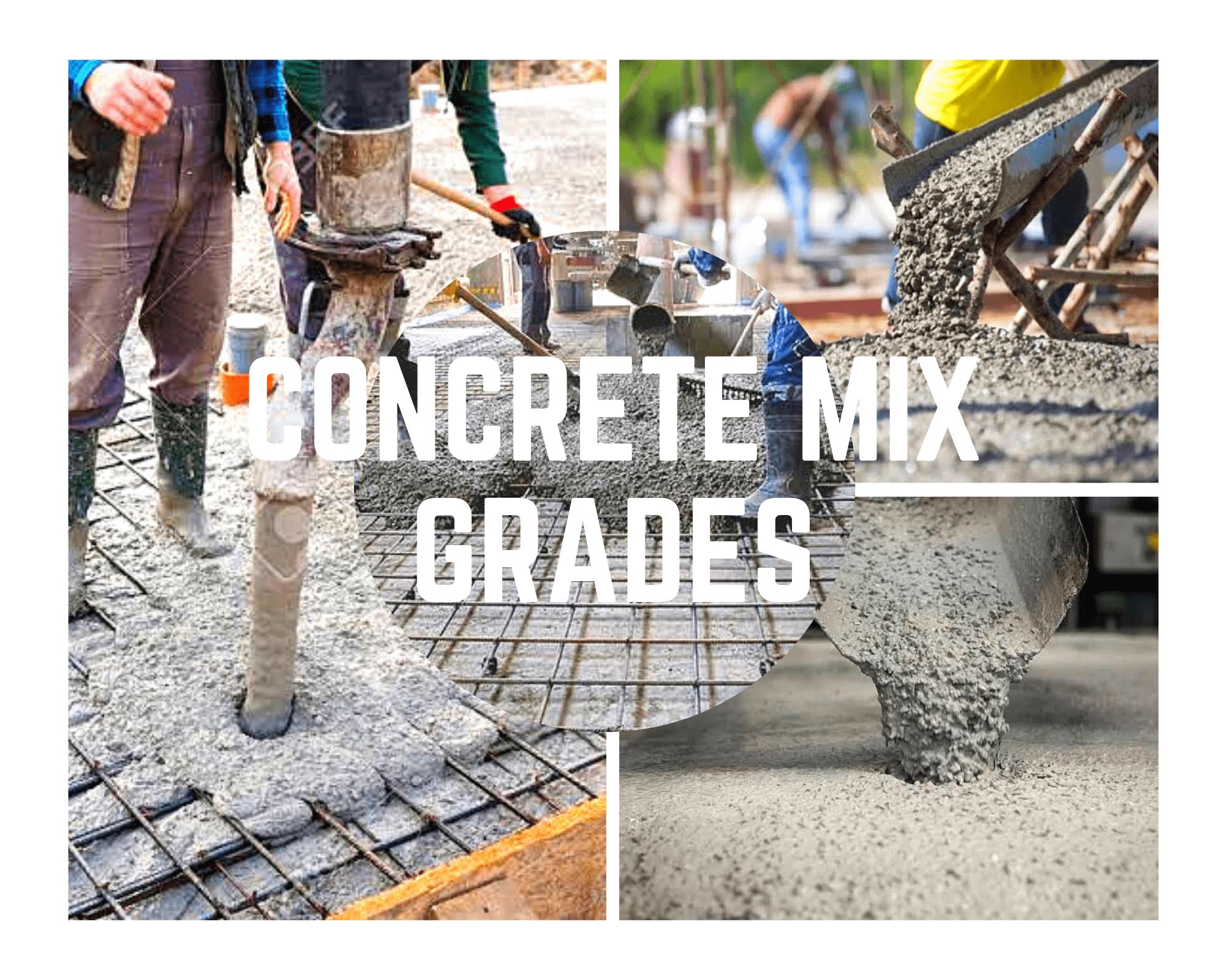 concrete mix grades