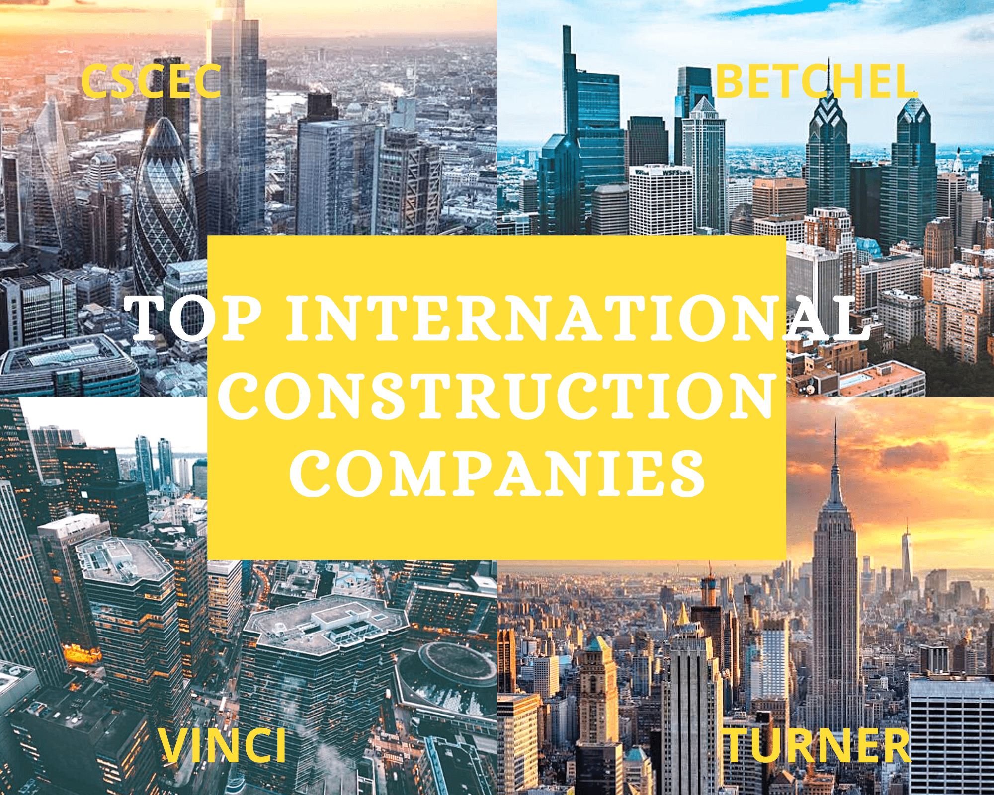 Top international construction companies