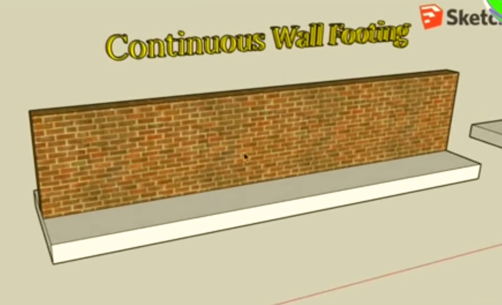 Wall Footing: