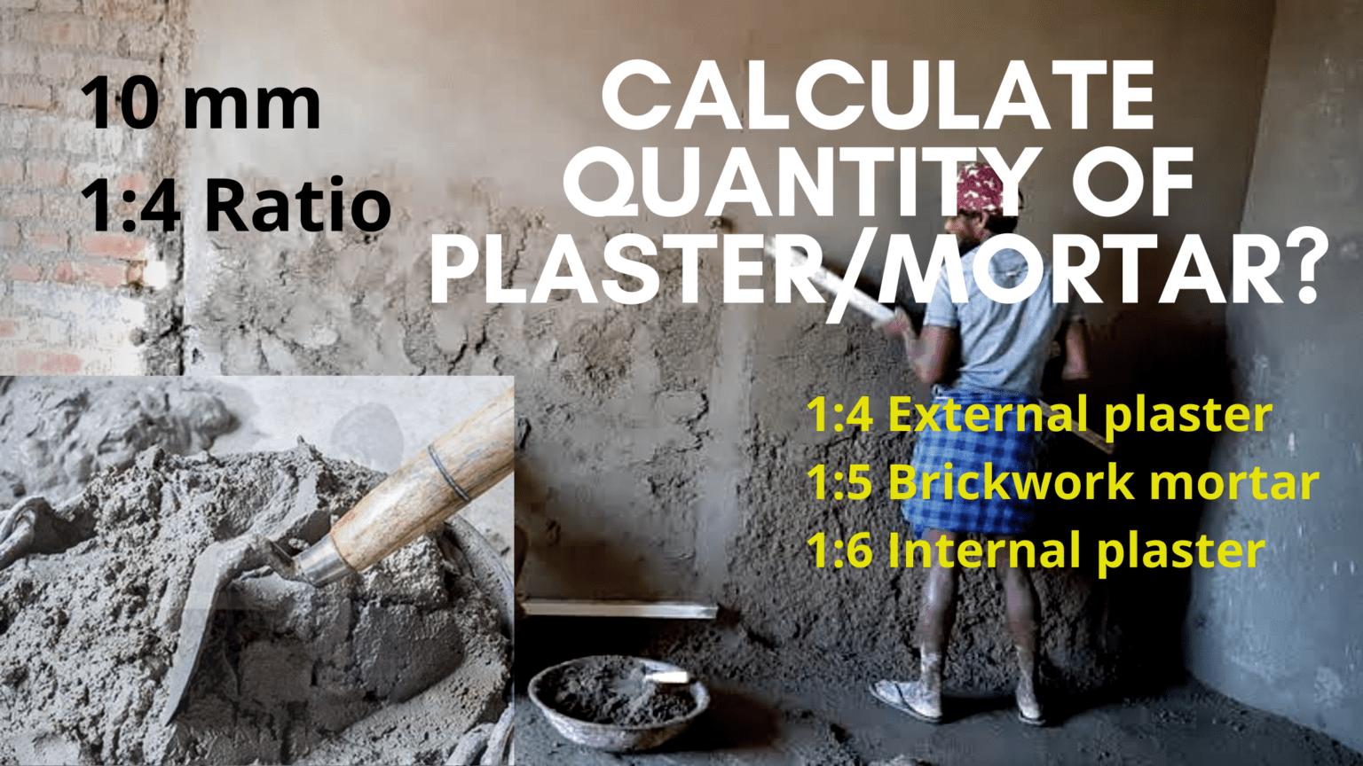 calculation of mortar
