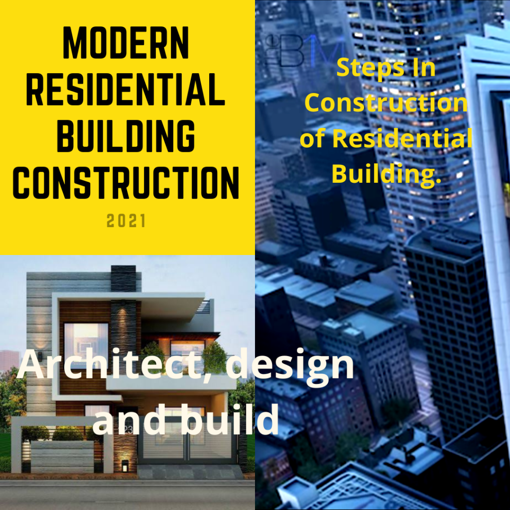 Modern residential building construction