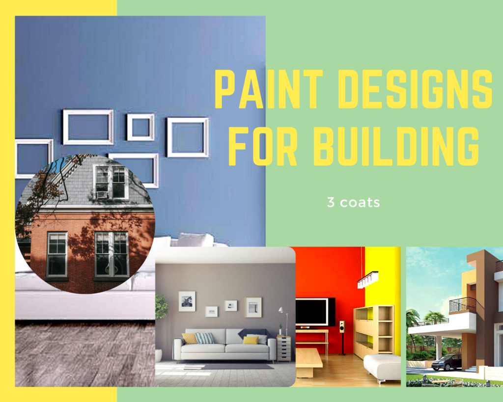 Wall paint design for building