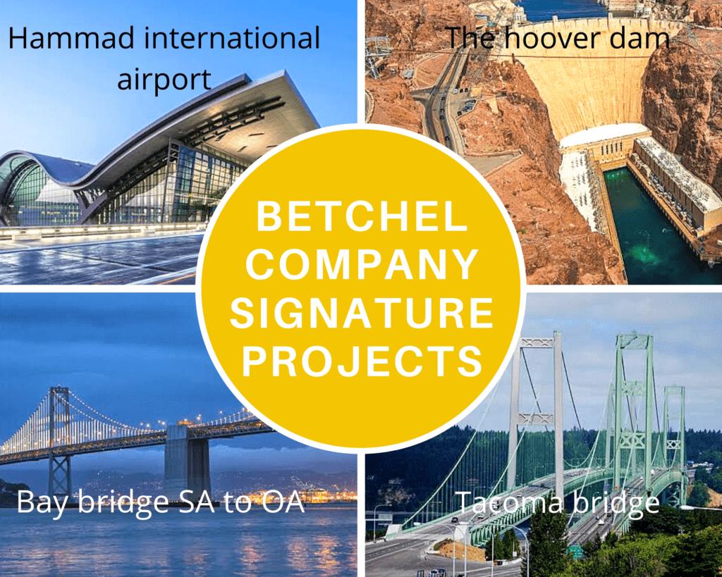 Bechtel construction company signature projects