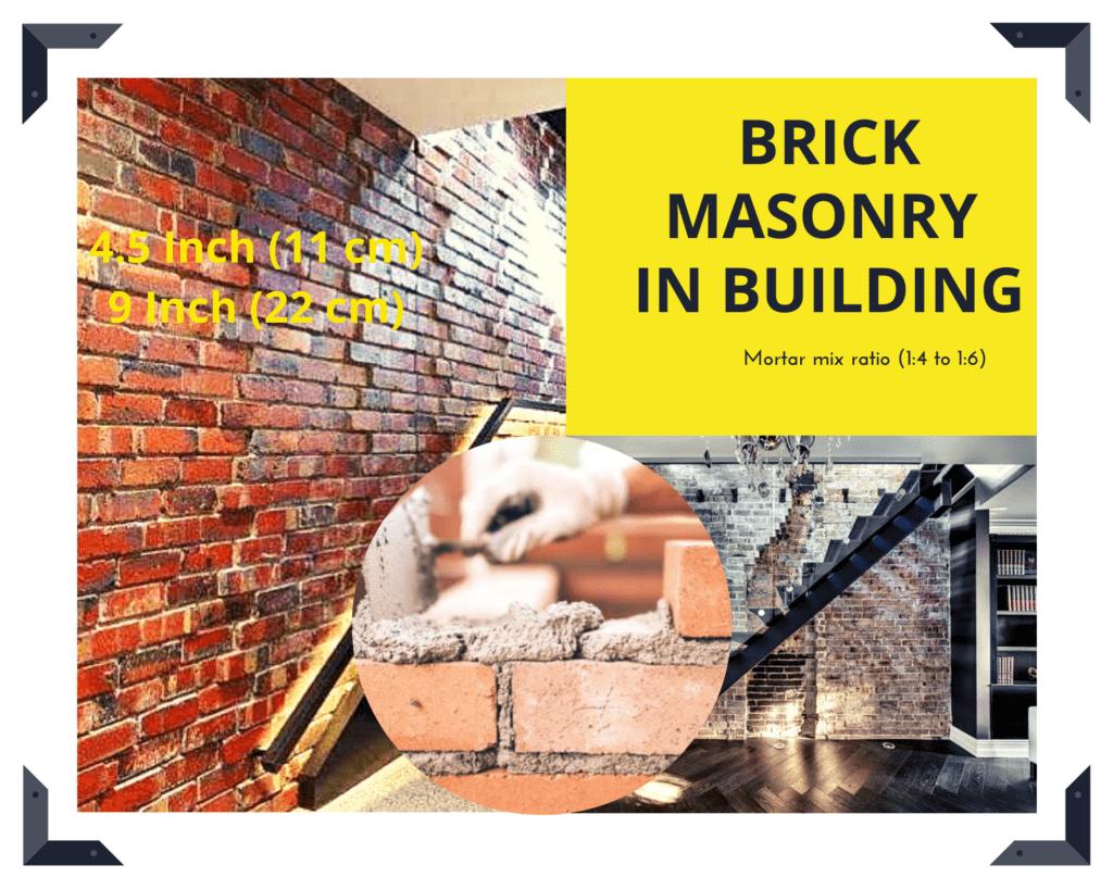Brick masonry work