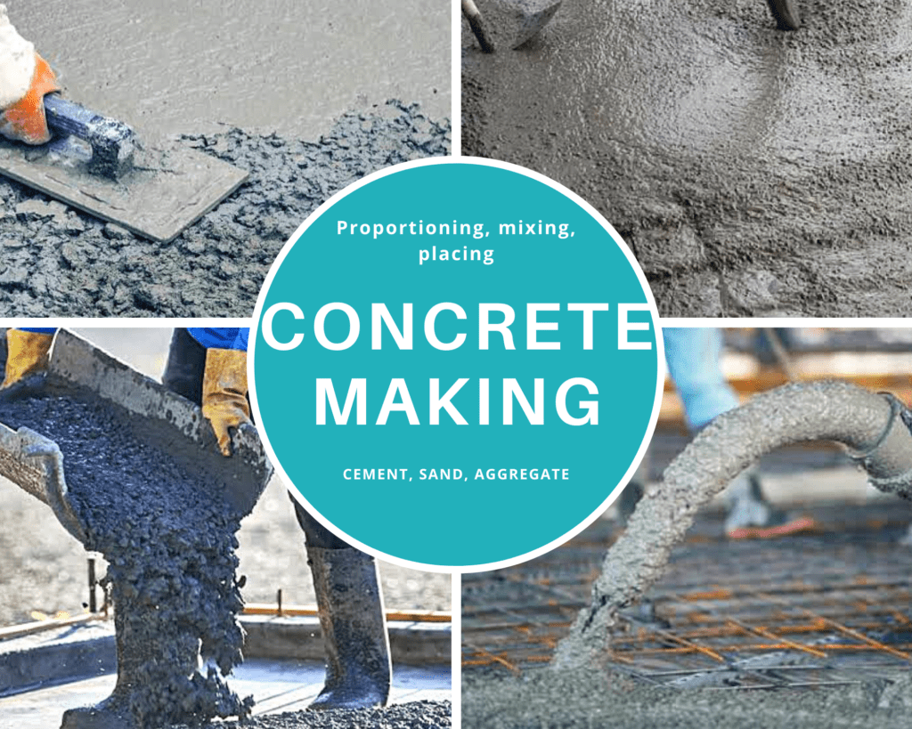 concrete making process