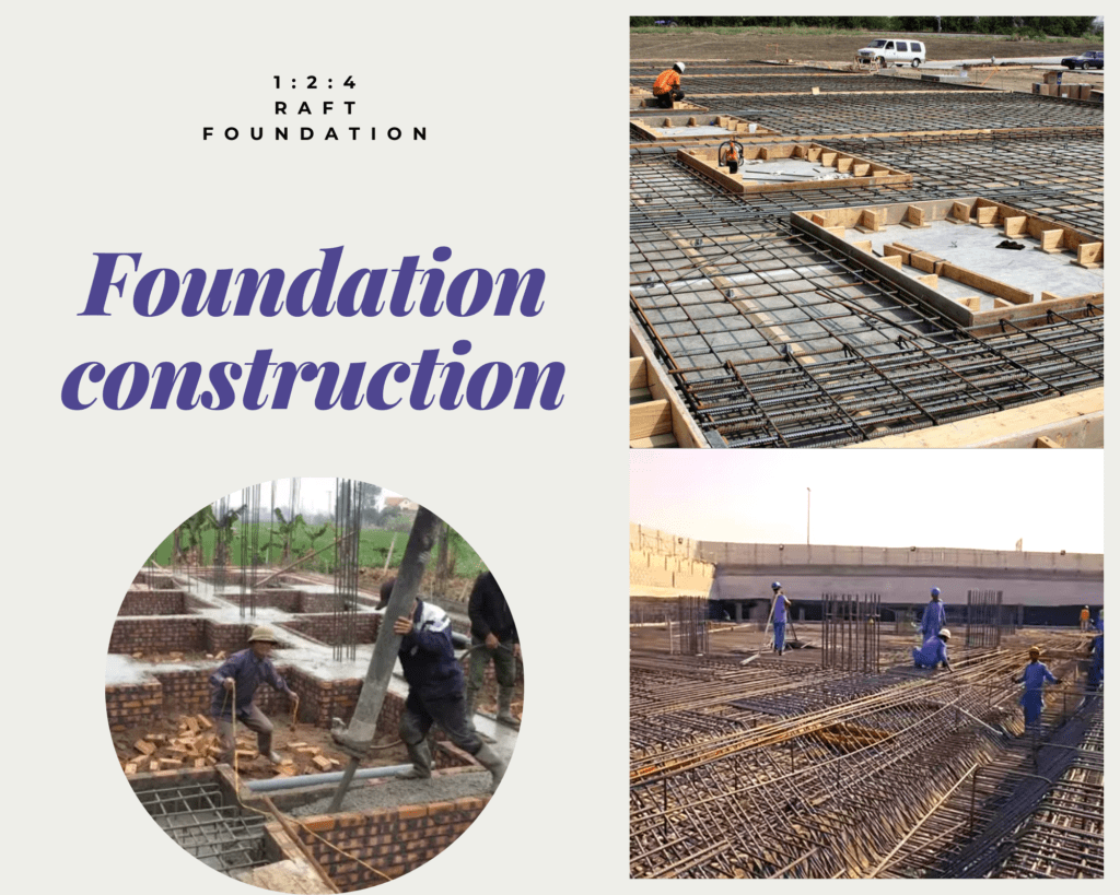 Foundation construction for high rise building