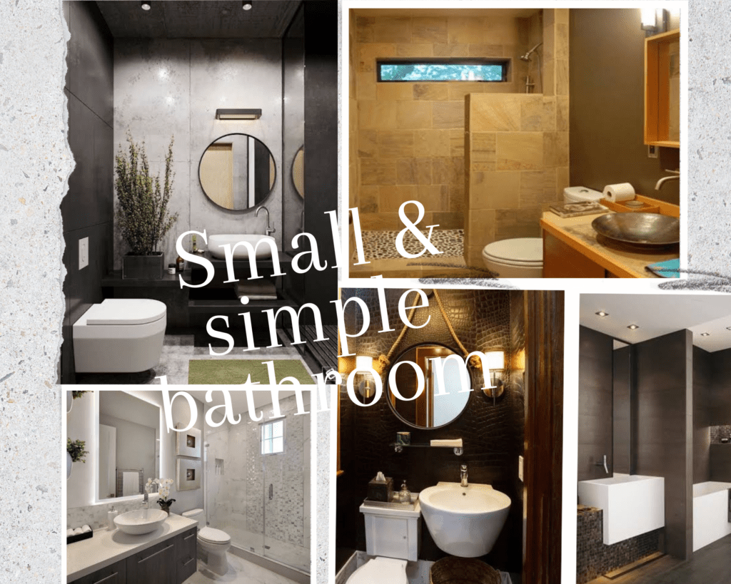 Small and simple bathroom