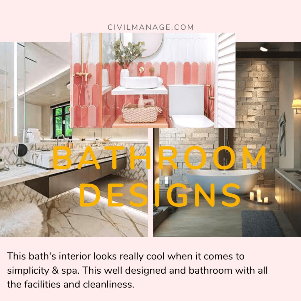 Small bath with unique interior