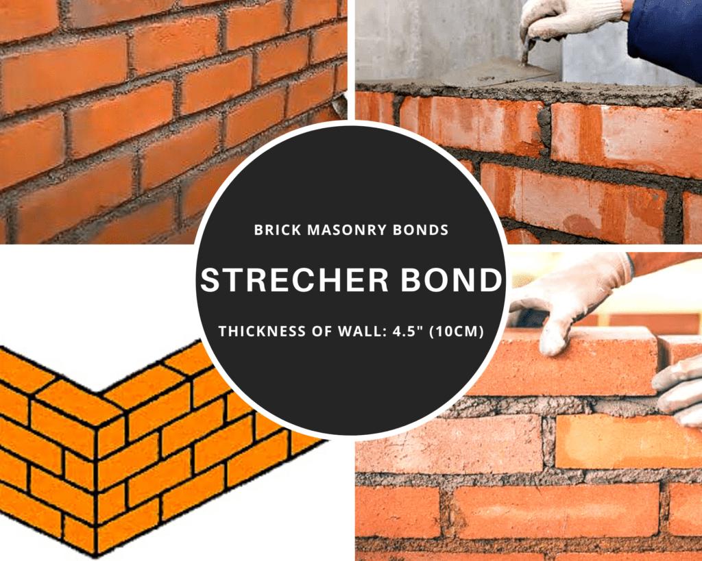 Stretcher bond in brick work