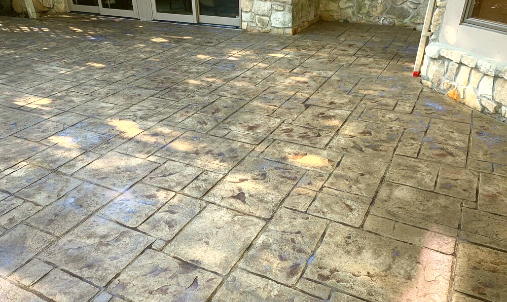 Stamped concrete colors pictures